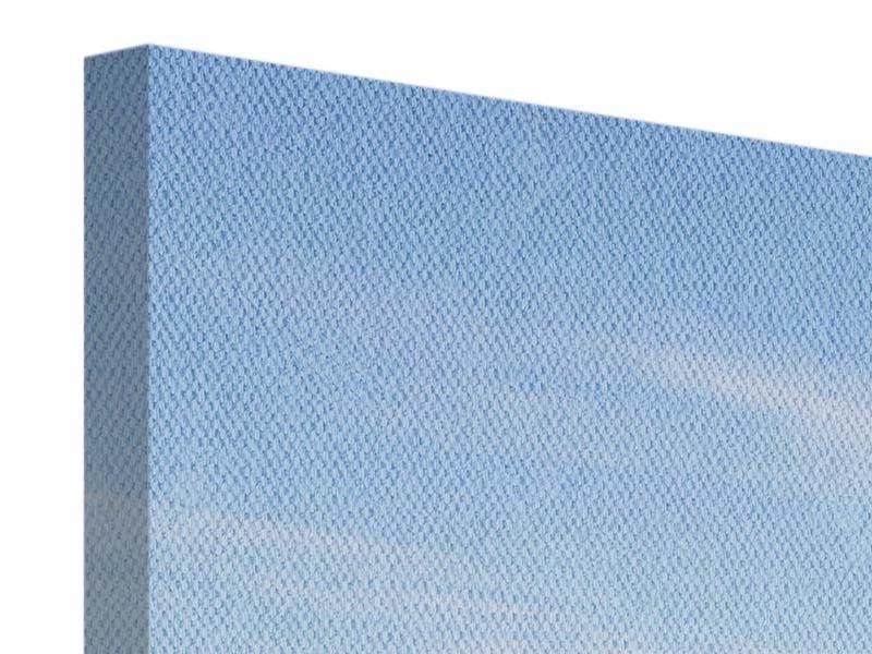 Leinwandbild 4-teilig modern Hafenmauern