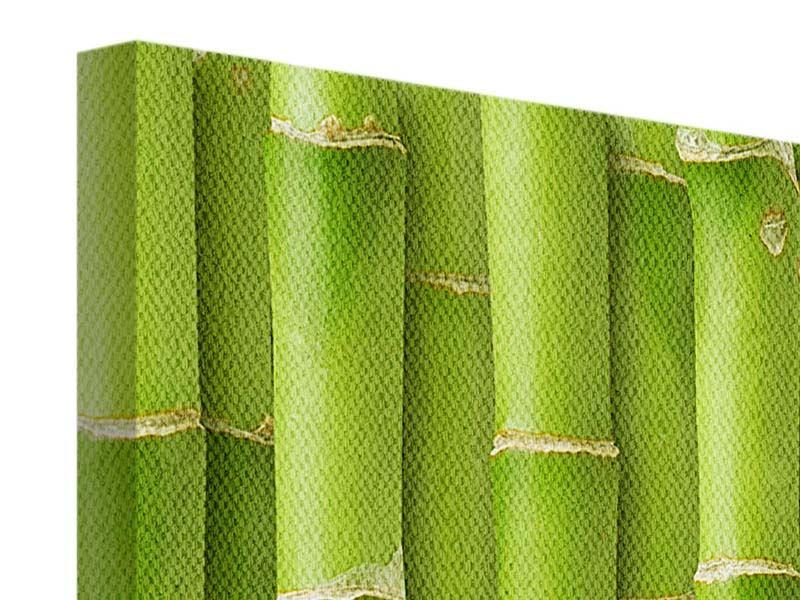 Leinwandbild 4-teilig modern Bambuswand