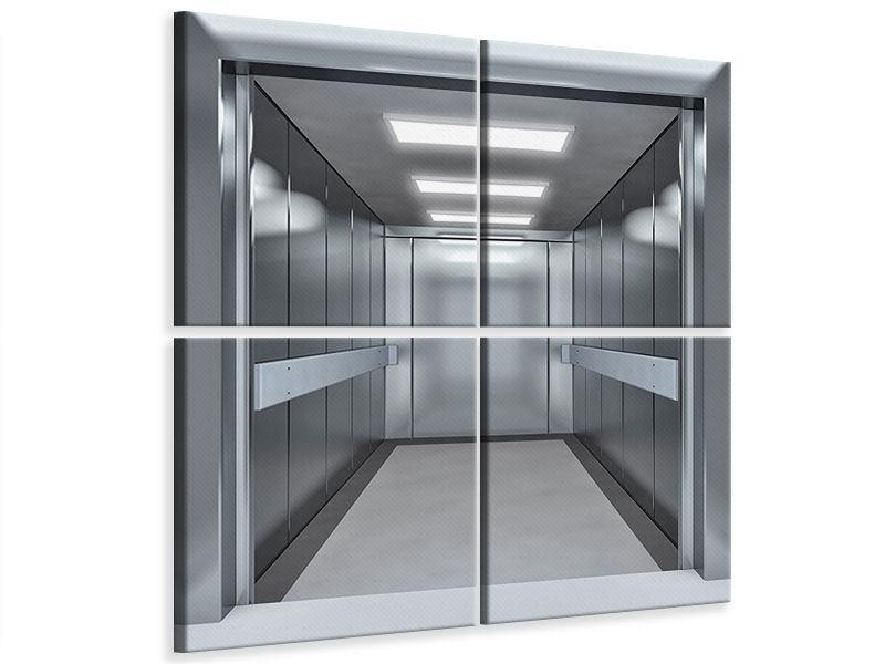 Leinwandbild 4-teilig Aufzug