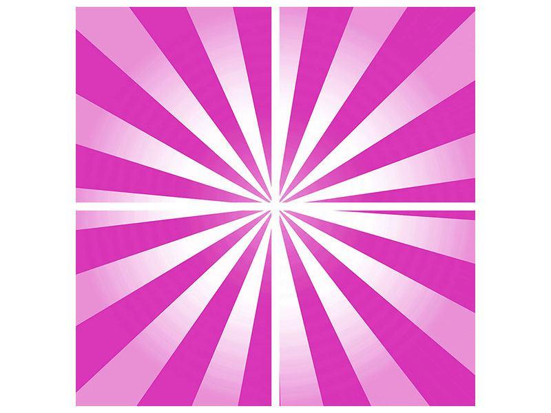 Leinwandbild 4-teilig Abstrakt Lollipop