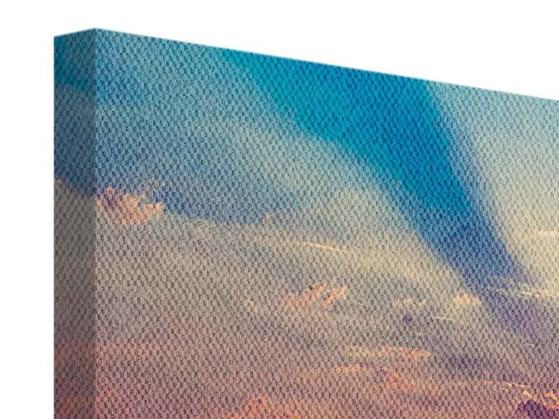 Leinwandbild 4-teilig Mystischer Sonnenaufgang