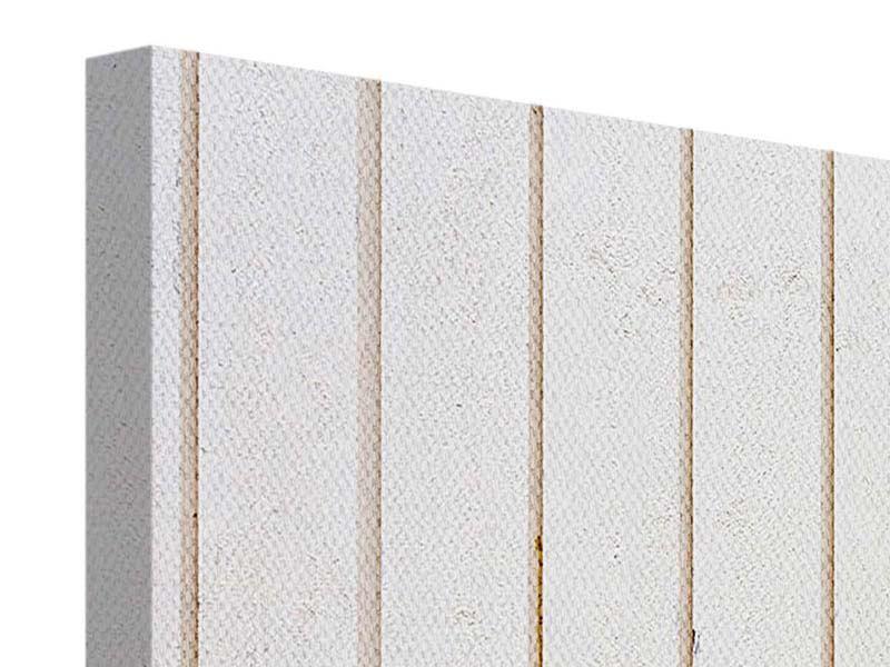 Leinwandbild 4-teilig Mediterranes Holz