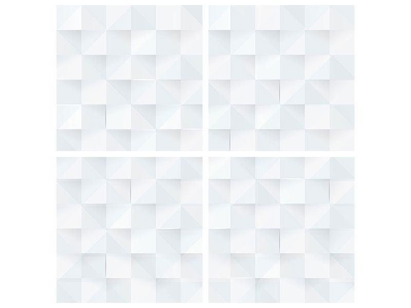 Leinwandbild 4-teilig 3D-Schachbrett