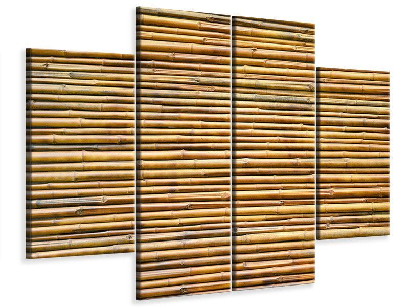 Leinwandbild 4-teilig Bambus
