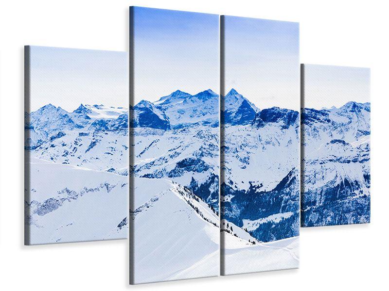 Leinwandbild 4-teilig Die Schweizer Alpen