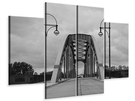 Leinwandbild 4-teilig Poetische Brücke