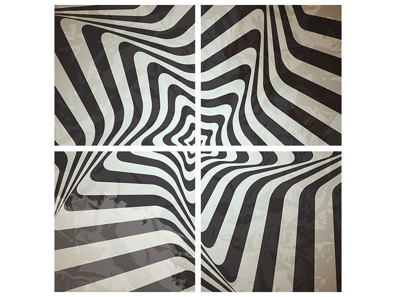 Leinwandbild 4-teilig Abstrakte Bewegungen