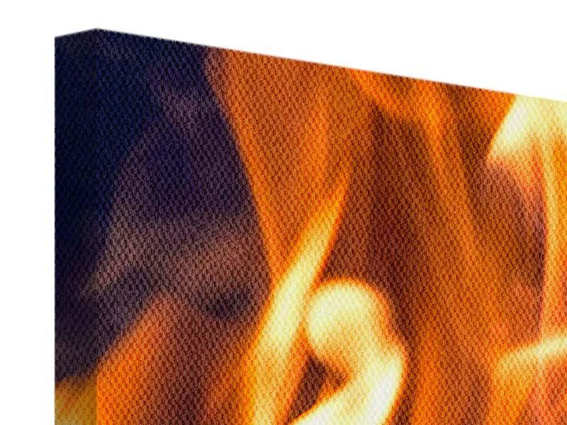 Leinwandbild 4-teilig Lagerfeuer