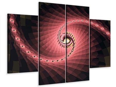 Leinwandbild 4-teilig Abstrakte Windungen