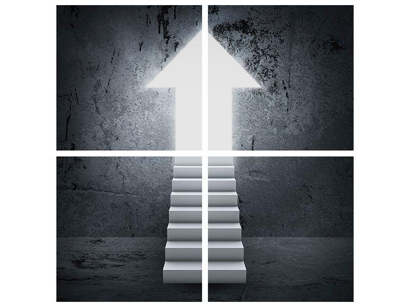 Leinwandbild 4-teilig Der Aufstieg