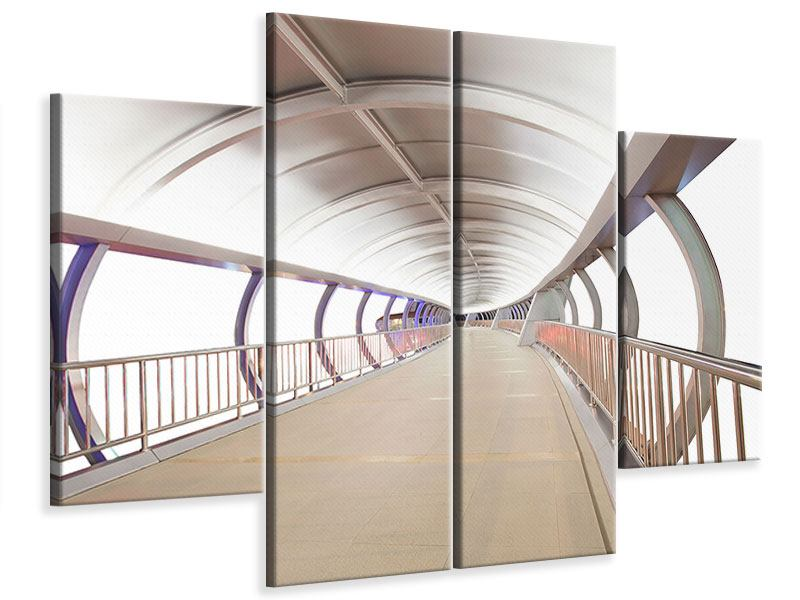 Leinwandbild 4-teilig Brückenfeeling