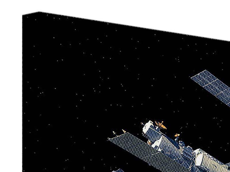 Leinwandbild 4-teilig Raumstation