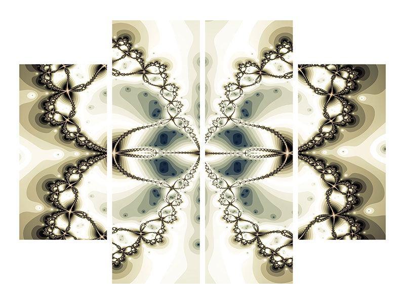 Leinwandbild 4-teilig Abstrakter Schmetterling