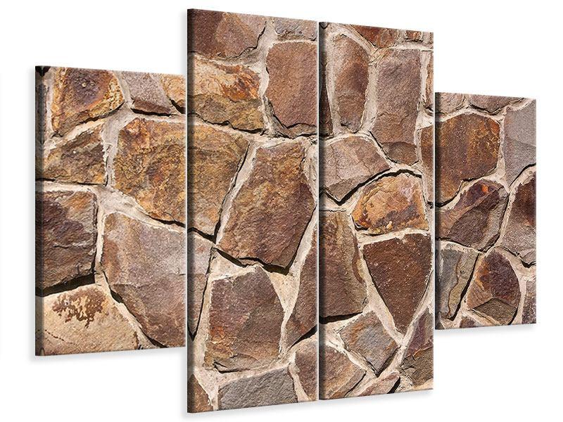 Leinwandbild 4-teilig Designmauer