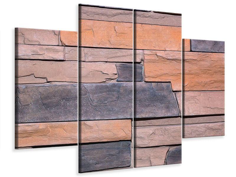 Leinwandbild 4-teilig Wall