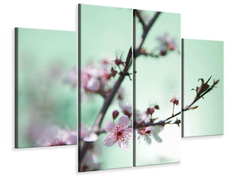 Leinwandbild 4-teilig Die japanische Kirschblüte