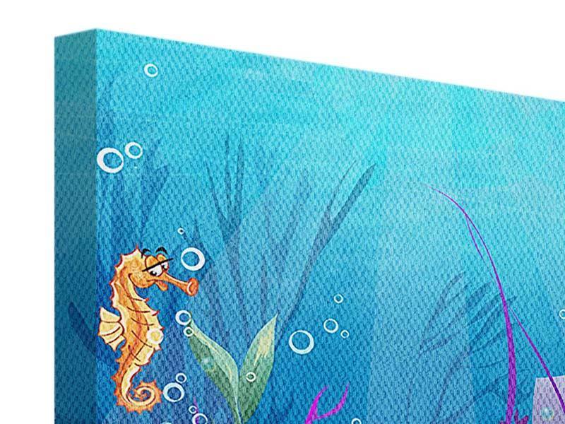 Leinwandbild 4-teilig Unterwasserschatzsuche