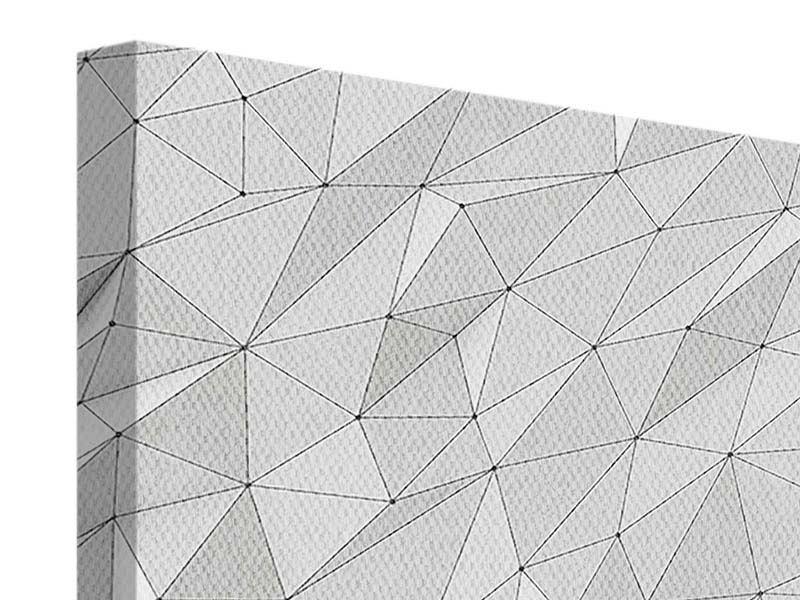 Leinwandbild 4-teilig 3D-Geo