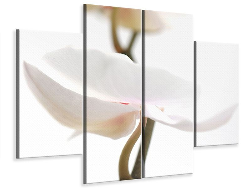 Leinwandbild 4-teilig XXL Orchideenblüte