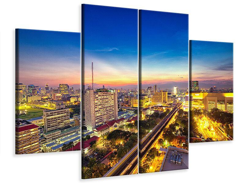 Leinwandbild 4-teilig Bangkok