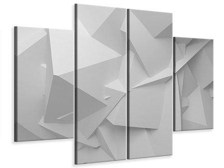 Leinwandbild 4-teilig 3D-Raster