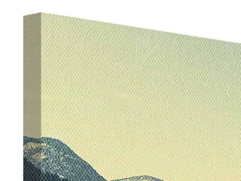 Leinwandbild 4-teilig Der Bergsee