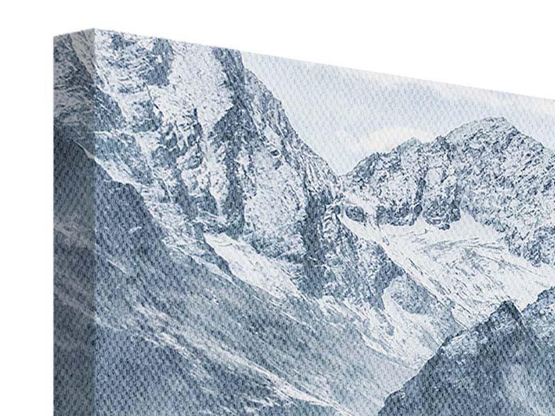Leinwandbild 4-teilig Gigantische Berggipfel