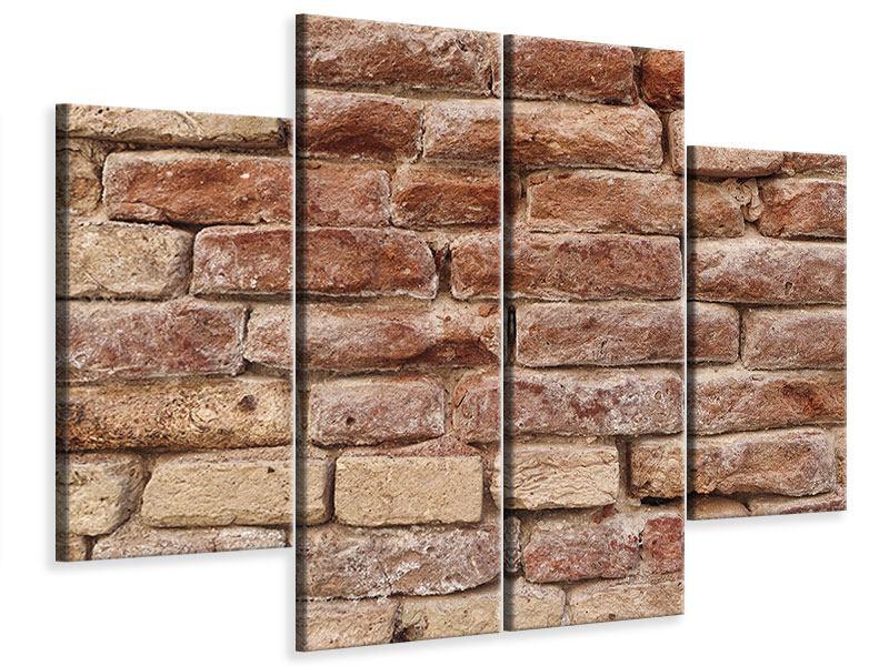 Leinwandbild 4-teilig Loft-Mauer