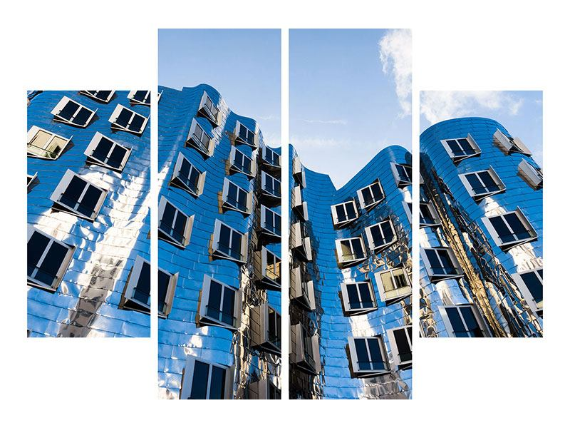 Leinwandbild 4-teilig Neuer Zollhof