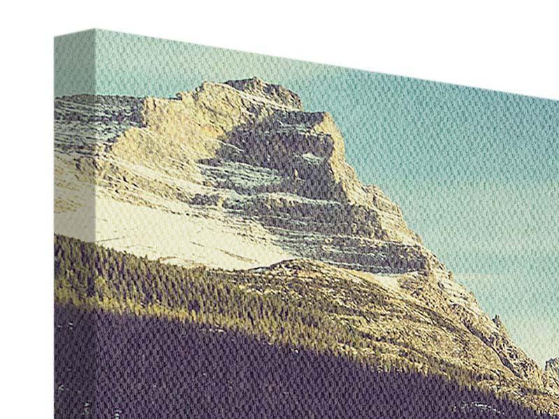 Leinwandbild 4-teilig Spiegelung im Bergsee