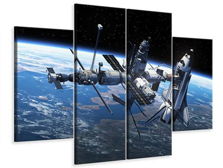 Leinwandbild 4-teilig Satellit