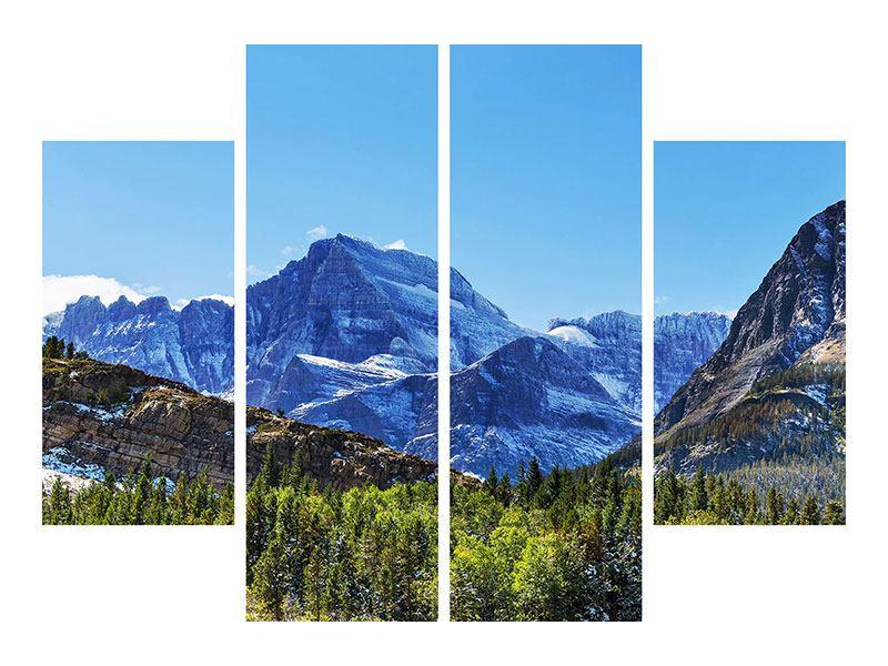 Leinwandbild 4-teilig Dem Gipfel entgegen