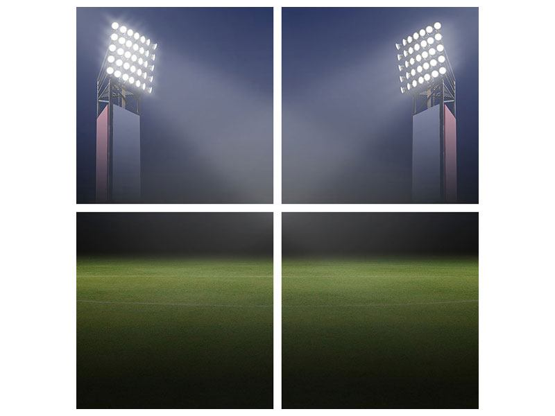 Leinwandbild 4-teilig Fussballstadion