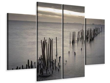 Leinwandbild 4-teilig Das Meer und die Träne