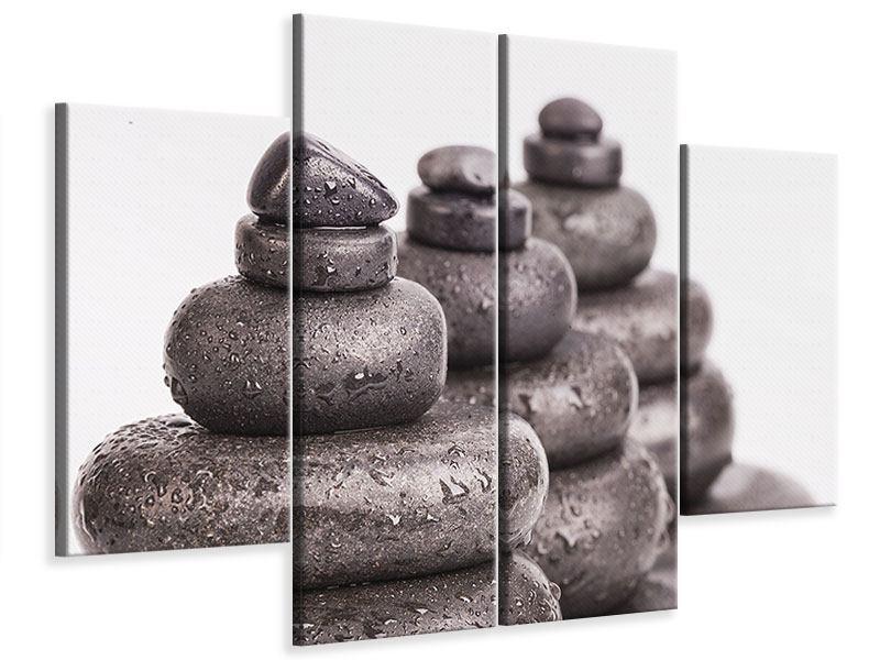 Leinwandbild 4-teilig Die Kraft der Steine