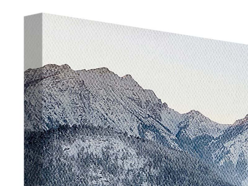 Leinwandbild 4-teilig Schloss Neuschwanstein im Ammergebierge