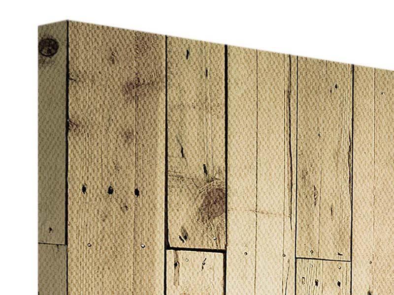 Leinwandbild 4-teilig Holzpaneelen
