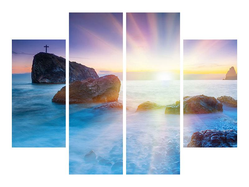 Leinwandbild 4-teilig Mystisches Meer