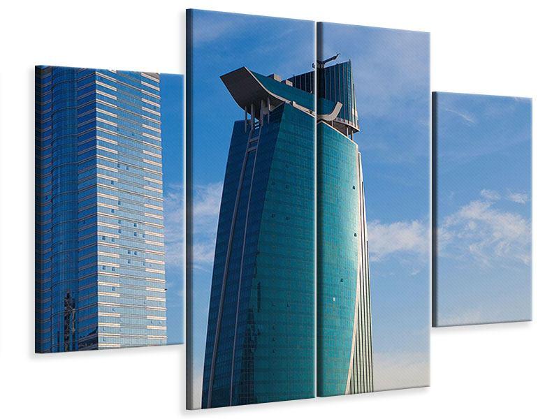Leinwandbild 4-teilig Zwei Wolkenkratzer