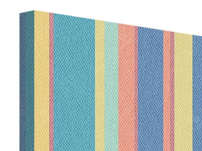 Leinwandbild 4-teilig Längstreifen in Pastell