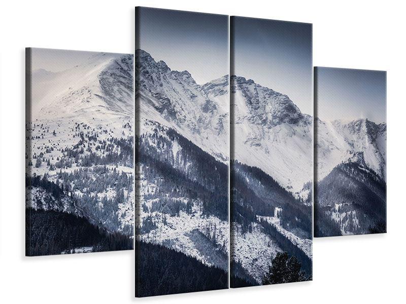 Leinwandbild 4-teilig Die Berge der Schweiz