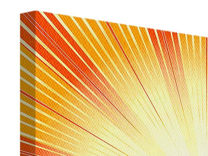 Leinwandbild 4-teilig Abstrakte Retro Sonne