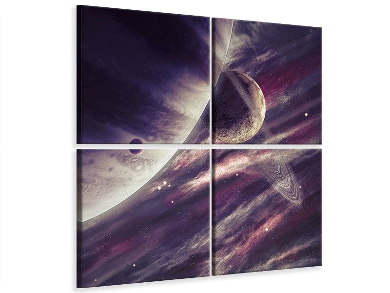 Leinwandbild 4-teilig Weltraumreise