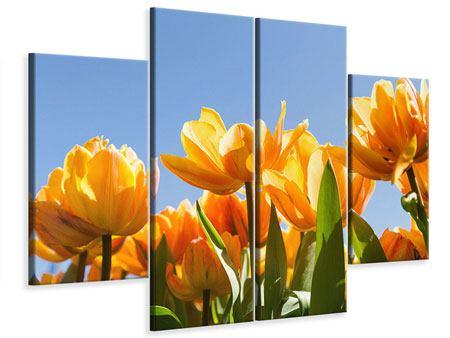 Leinwandbild 4-teilig Märchenhafte Tulpen