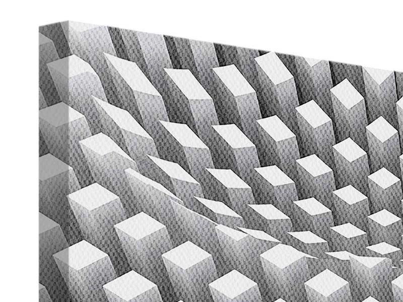 Leinwandbild 4-teilig 3D-Rasterdesign