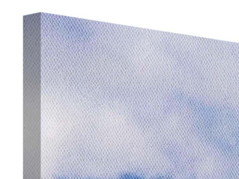 Leinwandbild 4-teilig Der stille Berg