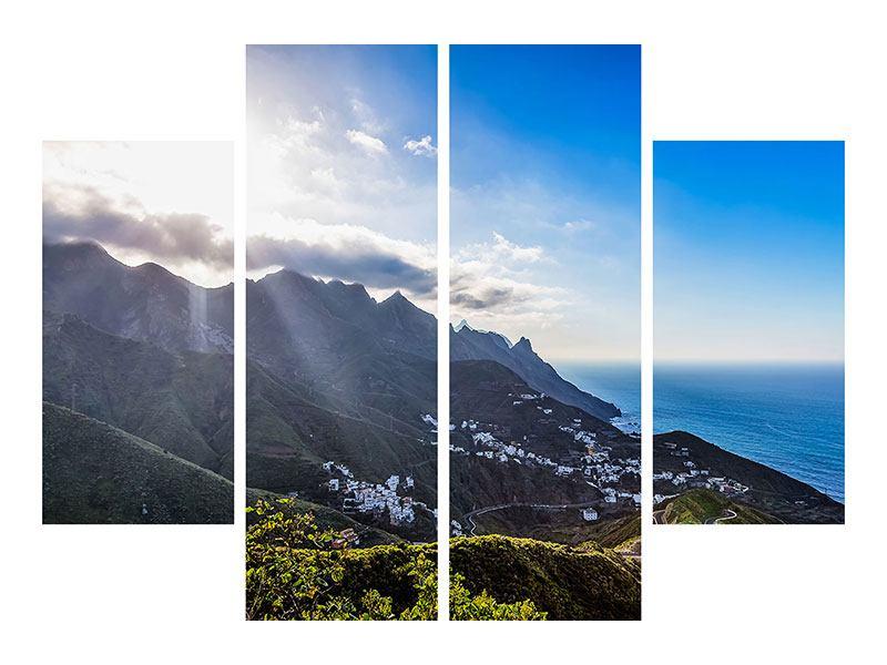 Leinwandbild 4-teilig Der Frühling in den Bergen