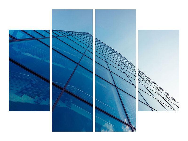 Leinwandbild 4-teilig Wolkenkratzer-Highlight