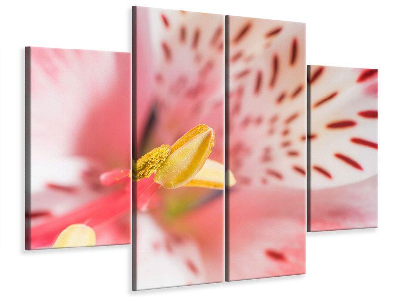 Leinwandbild 4-teilig Der Lilienstempel