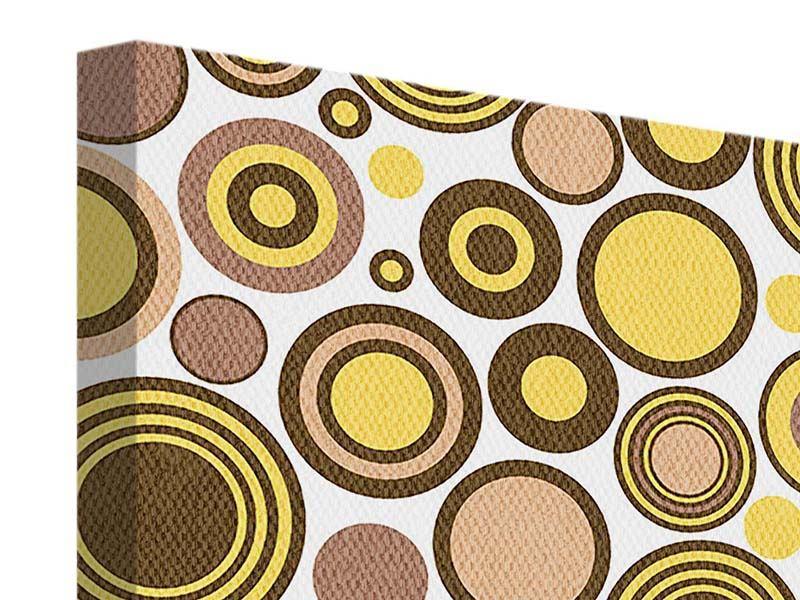 Leinwandbild 4-teilig Kreise im Retrodesign